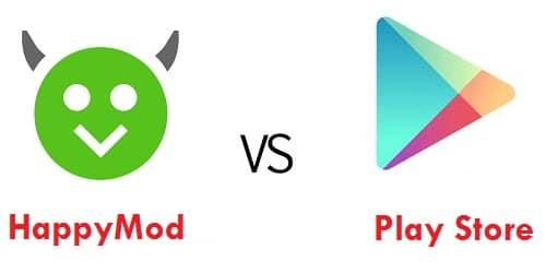 Diferenças entre o HappyMod e a Play Store